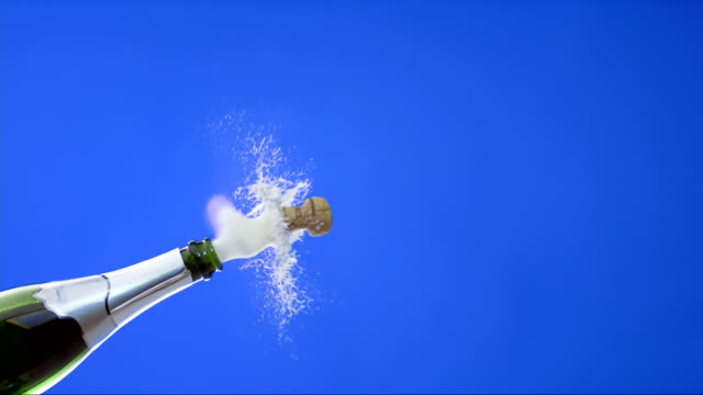 Opening A Bottle Of Champagne (Super Slow Motion)