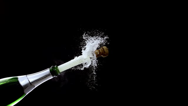 opening a champagne bottle (super slow motion) - bottle stock videos & royalty-free footage