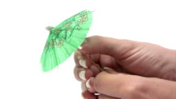Opening a Tiny Umbrella