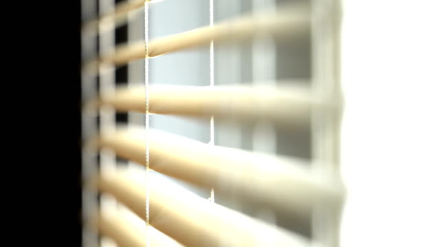 opening and closing blinds in home - bedroom stock videos & royalty-free footage