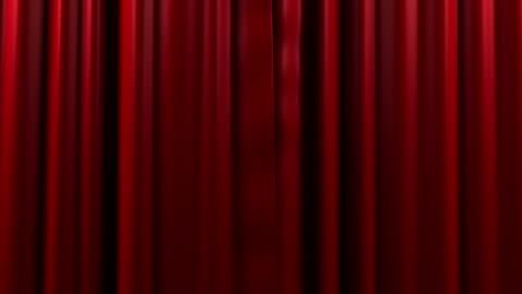 vídeos y material grabado en eventos de stock de apertura y cierre de cortina roja - cortina