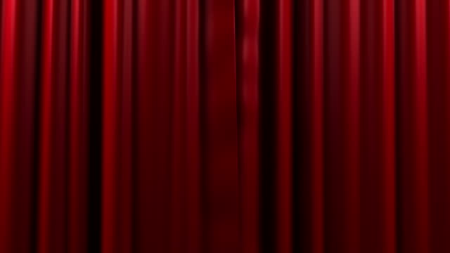 opening and closing red curtain - curtain stock videos & royalty-free footage