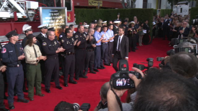 opening ceremony at the only the brave premiere at regency village theatre on october 08 2017 in westwood california - only the brave 2017 film stock videos & royalty-free footage