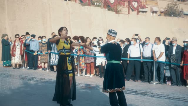 opening ceremony of kashgar old town,xinjiang,china. - local politics stock videos & royalty-free footage