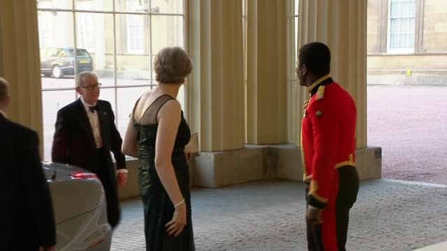 Queen Elizabeth hopes Prince Charles will be the next head of the Commonwealth ENGLAND London Buckingham Palace EXT Theresa May MP and husband Philip...