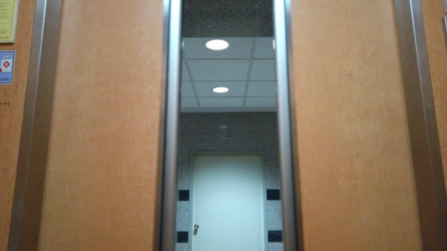 opening elevator doors - matte finish stock videos & royalty-free footage