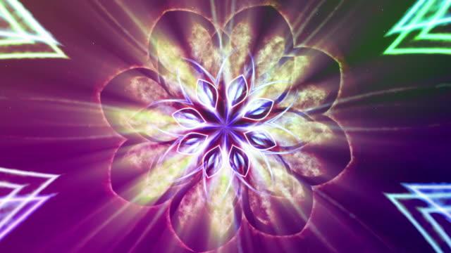 vídeos y material grabado en eventos de stock de loto-fractal arte que se abren. - loto