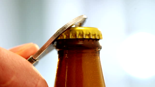 opening of beer cap - bottle stock videos & royalty-free footage