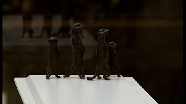 opening of exhibition of potential works for trafalgar square fourth plinth artist interviews various of maquette for tracey emin's 'something for... - sockel stock-videos und b-roll-filmmaterial