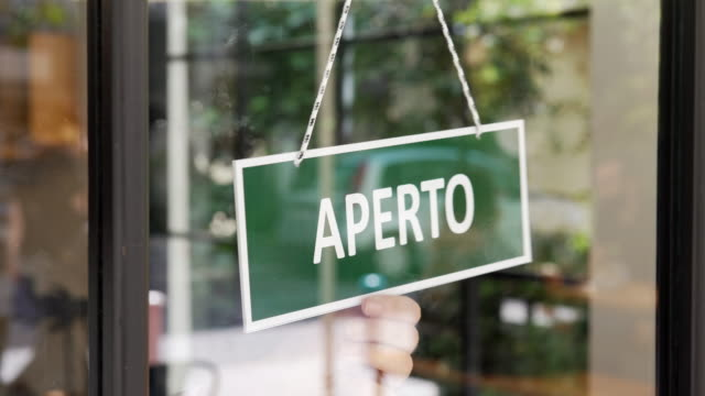 opening of italian small business - cultura italiana video stock e b–roll
