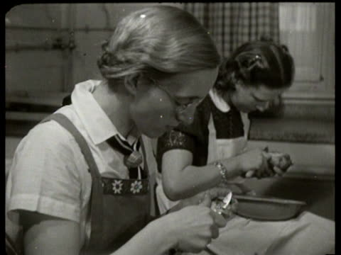 opening of the first so-called mytterschule where women and girls are taught how to raise children and how to do the housekeeping - housework stock videos & royalty-free footage