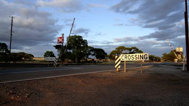 Opening railway crossing, Great Eastern Highway, Western Australia
