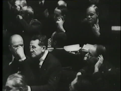 opening statements are read in the nuremberg trials. - nuremberg trials stock videos & royalty-free footage