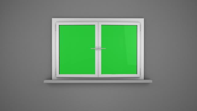 vídeos de stock e filmes b-roll de abrir a janela de branco - janela aberta