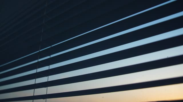 opening window blinds in the morning - shutter stock videos & royalty-free footage