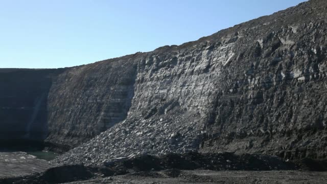 open-pit mine wall collapse - coal mine stock videos & royalty-free footage