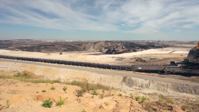 open-pit mining - bergwerk stock videos and b-roll footage