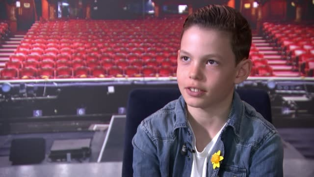10yearold boy donates performing fee to marie curie hospice in memory of his mother england london int sasha rose interview sot various rose... - fee stock videos and b-roll footage
