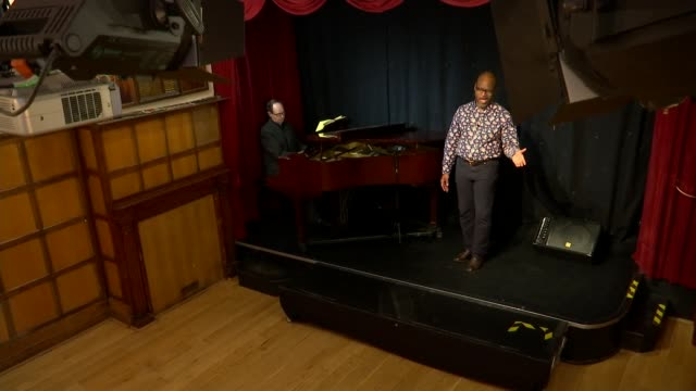 grange park opera appeals for black singers to perform in 'porgy and bess'; england: london: int robert winslade anderson singing sot. - singer stock videos & royalty-free footage