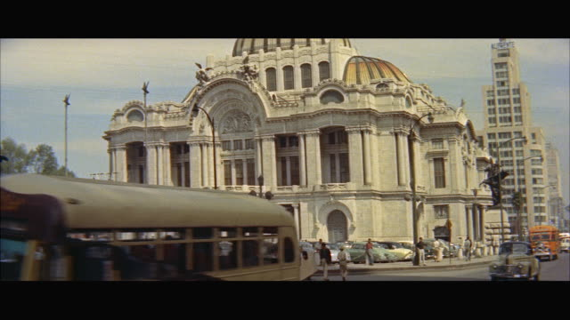 ms pov opera house of palace of fine arts / mexico - letterbox format stock videos & royalty-free footage