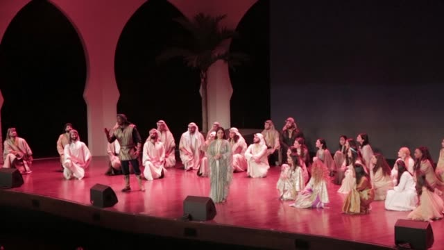 opera made its debut in riyadh at the weekend with a classic arabian love story as bands from beirut to new orleans performed at the kingdom's first... - opera stock videos & royalty-free footage