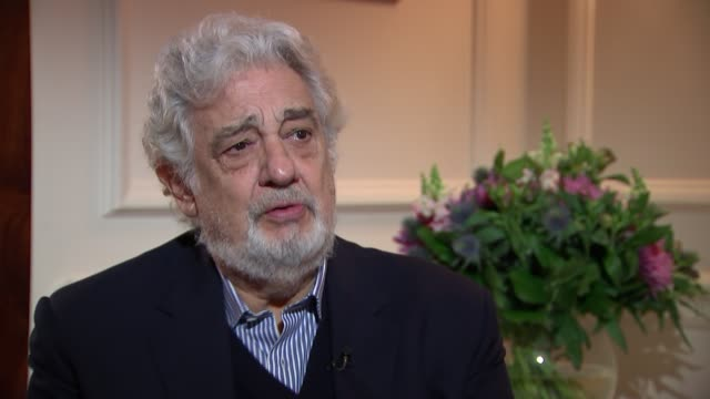 "placido domingo to perform in revival of verdi's ""nabucco"": placido domingo interview; england: london: int placido domingo interview sot - revival stock videos & royalty-free footage"