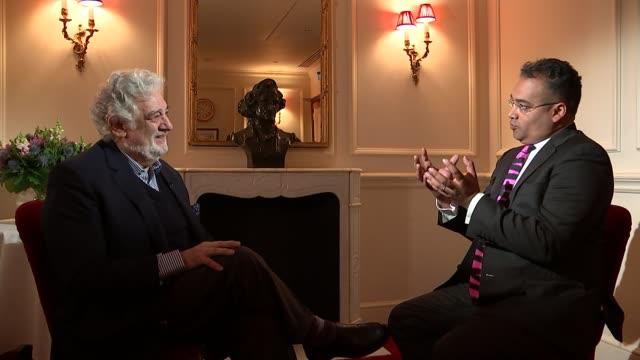 Placido Domingo to perform in revival of Verdi's Nabucco Placxido Domingo interview SOT Domingo and reporter