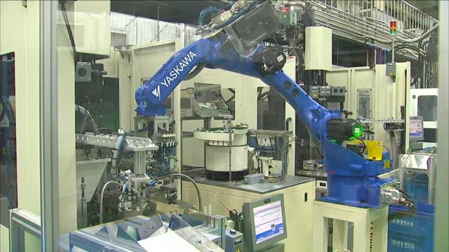Operating production line machine