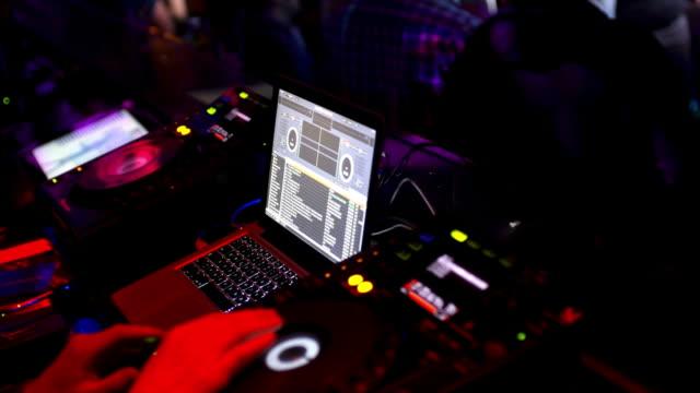 DJ Operating Sound Mixer Cinemagraph