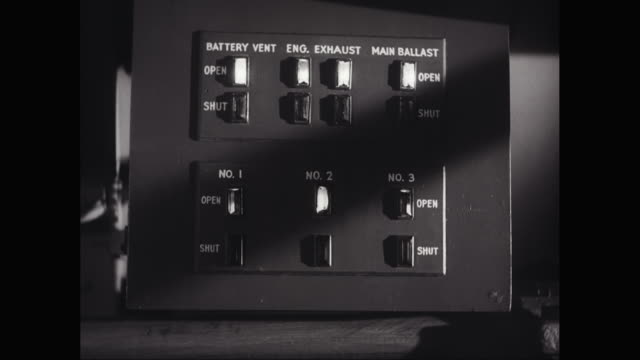 cu operating system of submarine / united states - コントロール点の映像素材/bロール