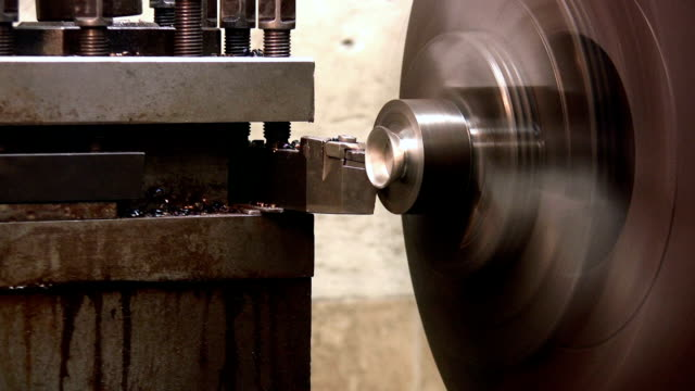 operating the industrial lathe - tungsten image stock videos and b-roll footage