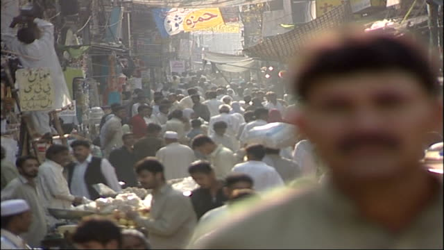 operation crevice/ background pakistan street scene gates to babar's house - lahore stock videos and b-roll footage