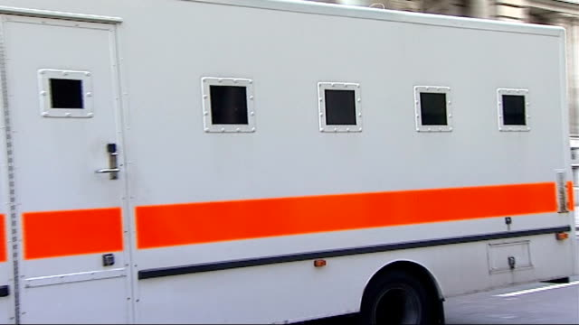 salahuddin amin england london old bailey ext prison van arriving at court - crevice stock videos and b-roll footage