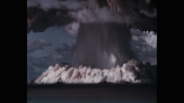 operation crossroads bikini atoll pacific ocean - bikini atoll stock videos & royalty-free footage