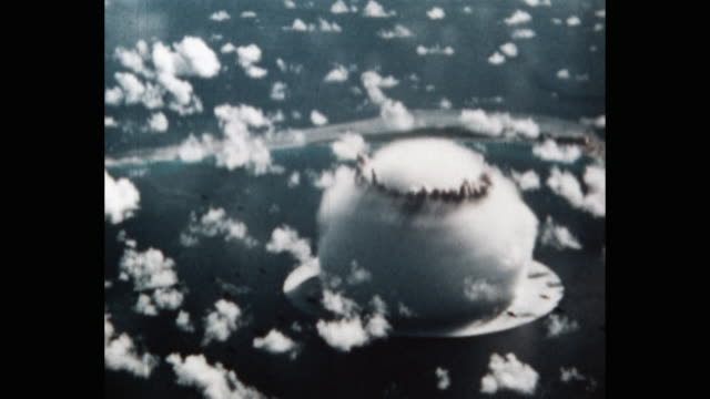 operation crossroads, bikini atoll, pacific ocean - scientific experiment stock videos & royalty-free footage