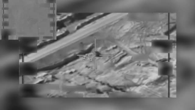 operation inherent resolve supported iraqi security forces with airstrikes dec 15 2016 that aimed to destroy a da'esh tank and artillery piece near... - luftangriff stock-videos und b-roll-filmmaterial