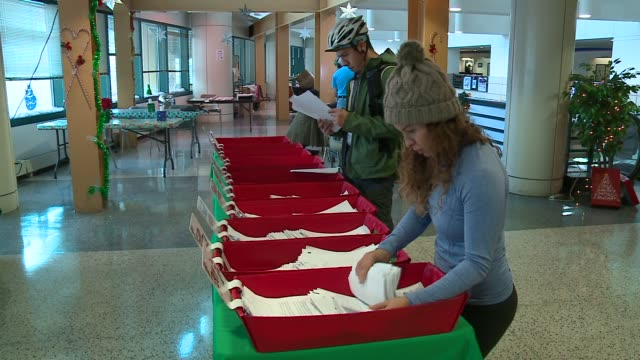 WGN 'Operation Letter to Santa' At Chicago's Main Post Office in Chicago on December 14 2015 The organization works with USPS offices around the...