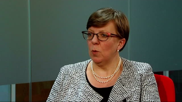 director of public prosecutions alison saunders interview london int alison saunders into room and shaking hands with reporter alison saunders... - acquittal stock videos and b-roll footage