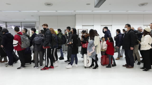 operations at narita airport to protect people against new coronavirus from wuhan in narita chiba prefecture japan on thursday january 23 2020 - wuhan stock-videos und b-roll-filmmaterial