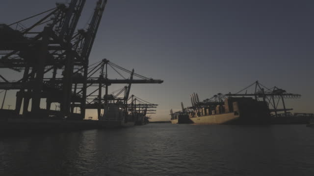 operations at port of hamburg in hamburg, germany, on tuesday, ahust 6, 2020. - morning stock videos & royalty-free footage
