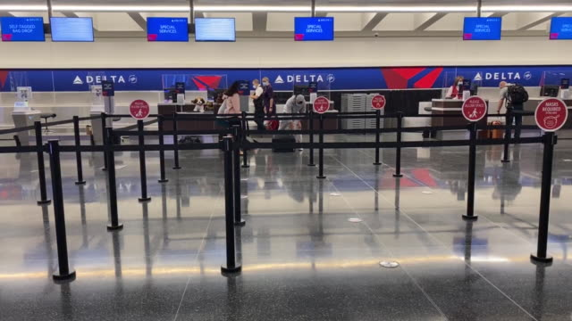 operations at the delta air lines terminal a on opening day of the salt lake city international airport in salt lake city utah us on tuesday... - flugpassagier stock-videos und b-roll-filmmaterial