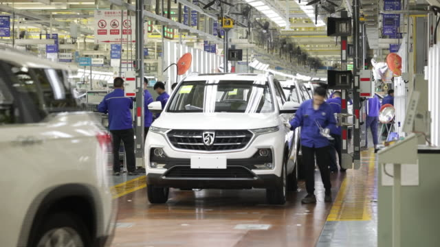 operations at the shanghai general motors wuling plant in liuzhou china on wednesday may 23 2018 - general motors stock videos & royalty-free footage