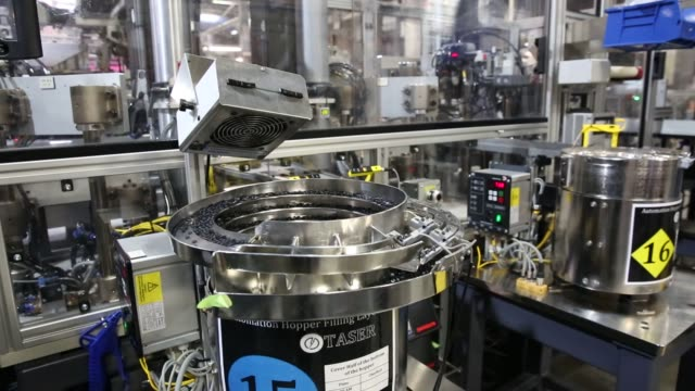 Operations Inside Taser International Inc's Manufacturing Facility in Scottsdale Arizona US on April 23rd 2015 Shots A machine manufactures the...