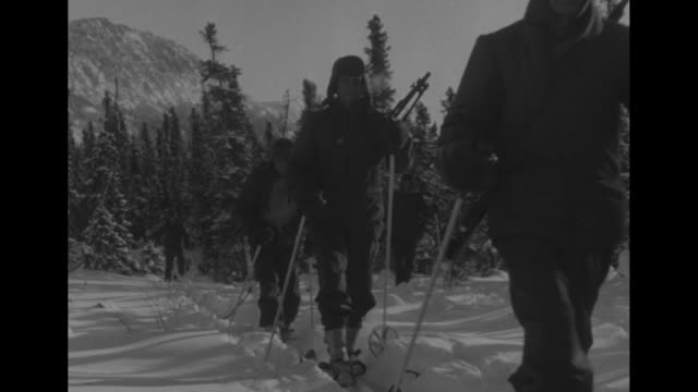 operation's senior officers including major general penhale lt general stephen chamberlin and air marshal clearence dunlap / ws snowcovered mountains... - whitehorse stock videos and b-roll footage