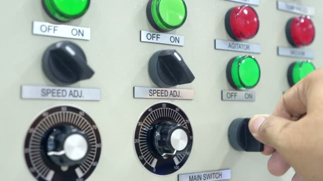 operator push on power for operate the machine - control panel stock videos & royalty-free footage