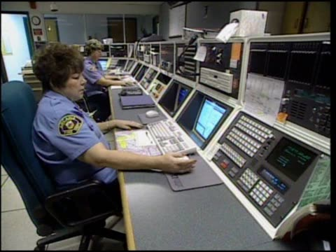 Operators at the Arcadia Fire Department answer phone calls