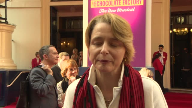 interview ophelia dalh on the time it took to bring the story to stage why the story is universal on roald dahl at charlie the chocolate factory... - dahl stock videos and b-roll footage
