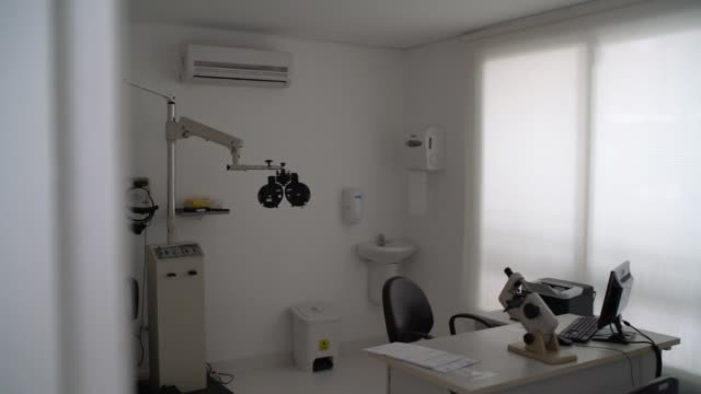 ophthalmology clinic empty - lens optical instrument stock videos & royalty-free footage