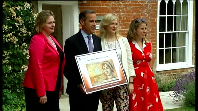 Opinion divided over Twitter boycott R25071308 / 2572013 Hampshire Alton Jane Austen's House Museum EXT Mark Carney posing for photocall holding...