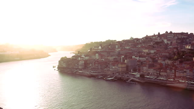 Oporto Ribeira aerial view